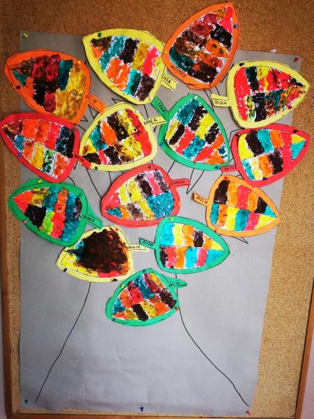 Kolorowe liście Motylków