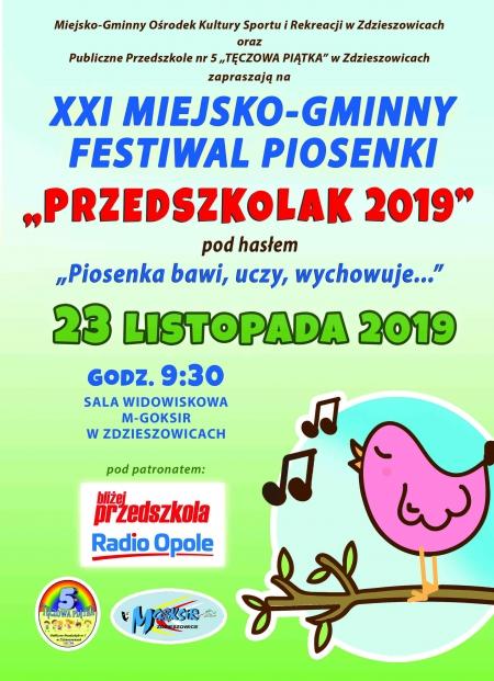 XXI Miejsko - gminny Festiwal piosenki przedszkolnej